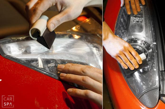 Ferrari California, CarSPA, detailing, powłoki ochronne, powłoki ceramiczne, hydrofobizacja szyb, powłoki ochronne, carwash, korekta lakieru, zabezpieczenie samochodu, stylizacja foliami,