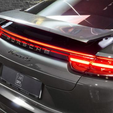 Porsche Panamera 4S Diesel, CarSPA, detailing, powłoki ochronne, powłoki ceramiczne, hydrofobizacja szyb, powłoki ochronne, carwash, korekta lakieru, zabezpieczenie samochodu, stylizacja foliami,